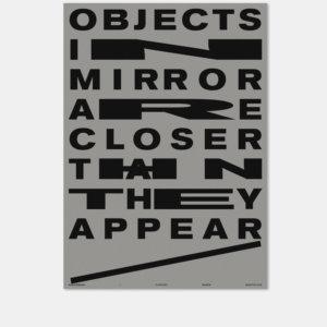Plakat |Reflexion | Mirror | Typografie