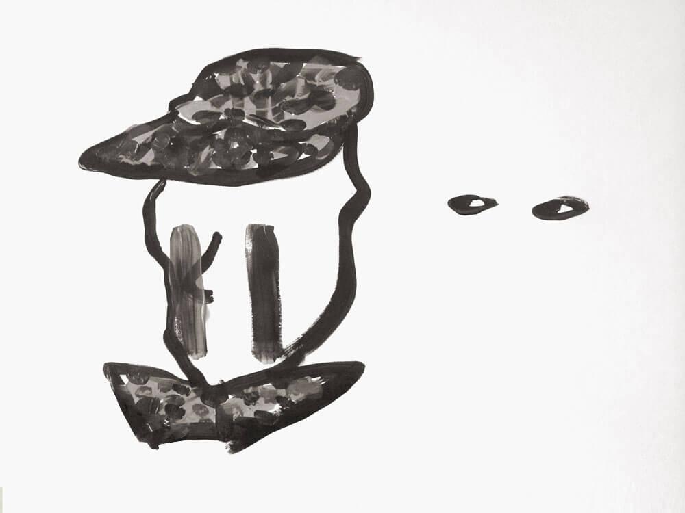 Drawing | Hat | Tears | Man