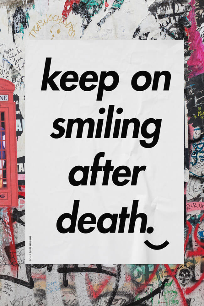 Daniel Angermann – Keep on Smiling Poster