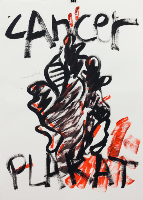 Drawing |Abstract | Orange | Black |Handlettering
