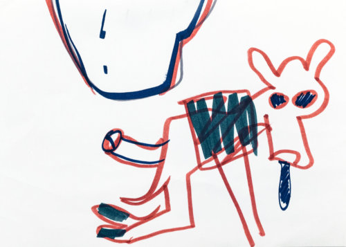 Dog | Monitaurus | Drawing | Head