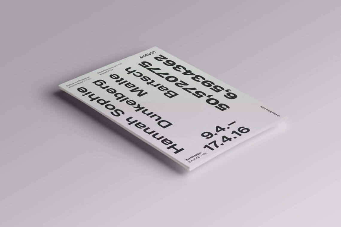 Daniel_Angermann_exhibition_stationery_1_malte_bartsch_art_cologne_2016 Hannah Sophie Dunkelberg & Malte Bartsch