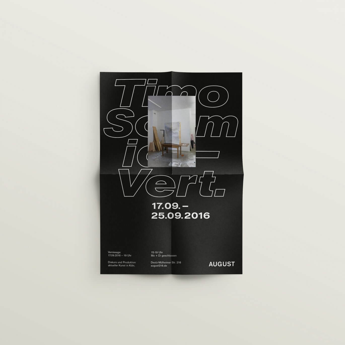 Plakat | Folded | Black | Outline | Type