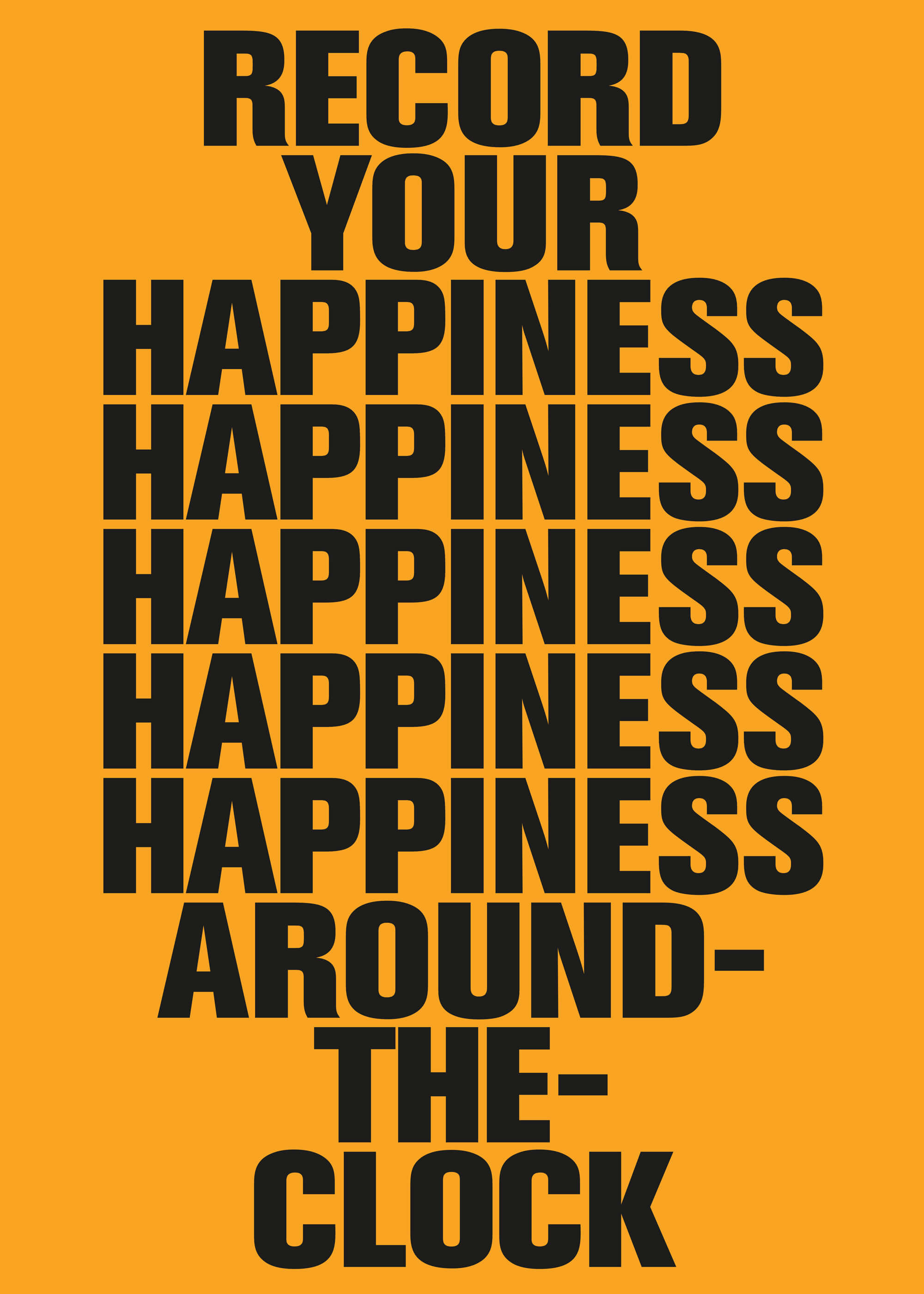 Daniel Angermann Poster Happiness