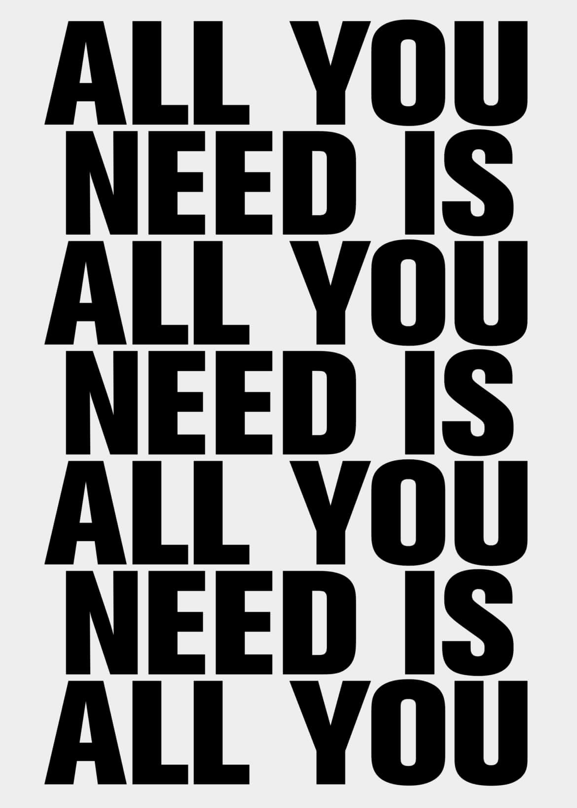 Daniel Angermann Poster All you need 3