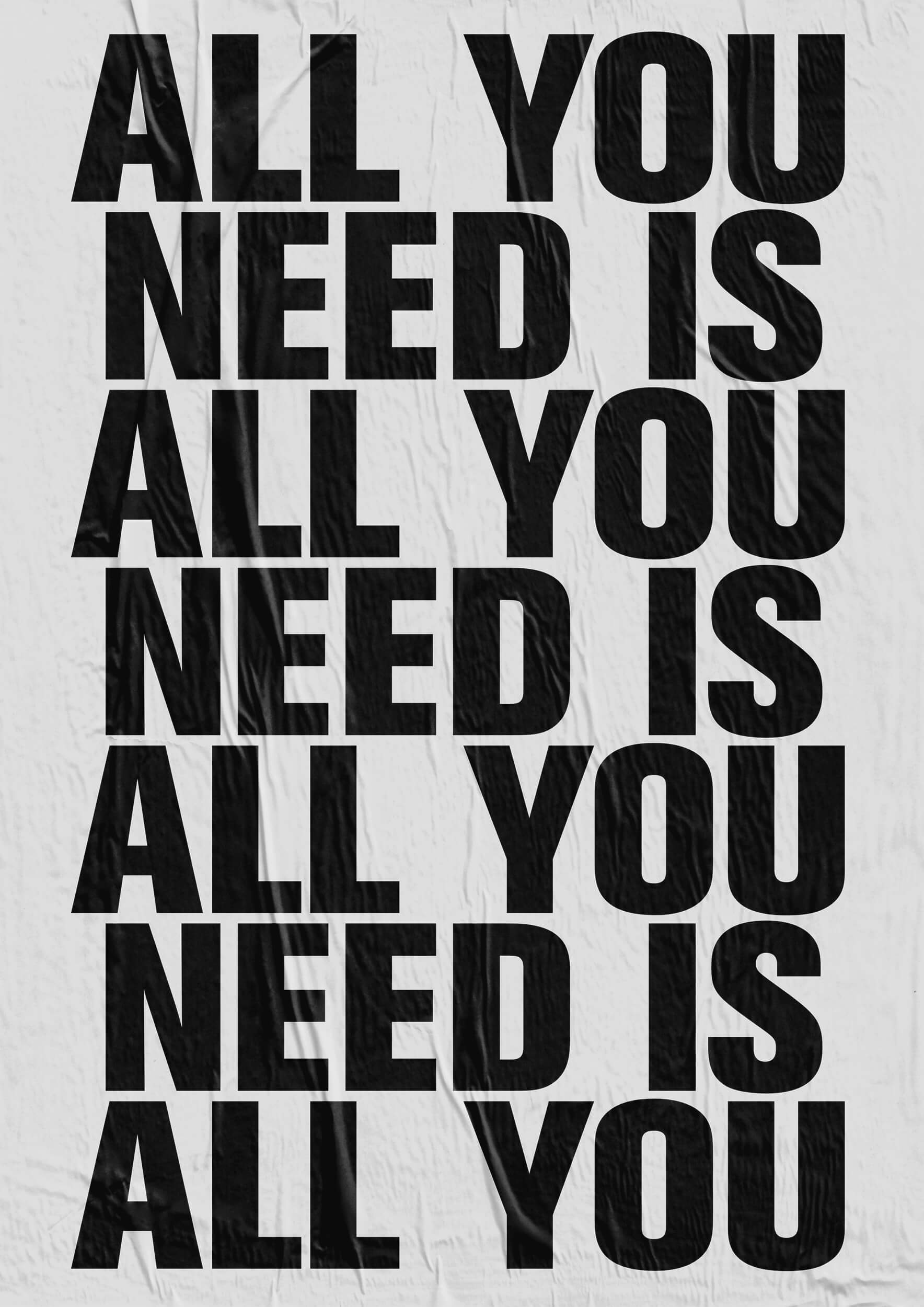 Daniel Angermann Poster All you need 2