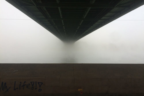 Bridge | Cologne | fog | water