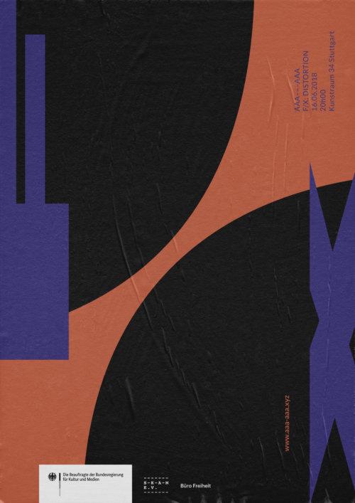 FX Distorsion | Plakat | Design | Musik