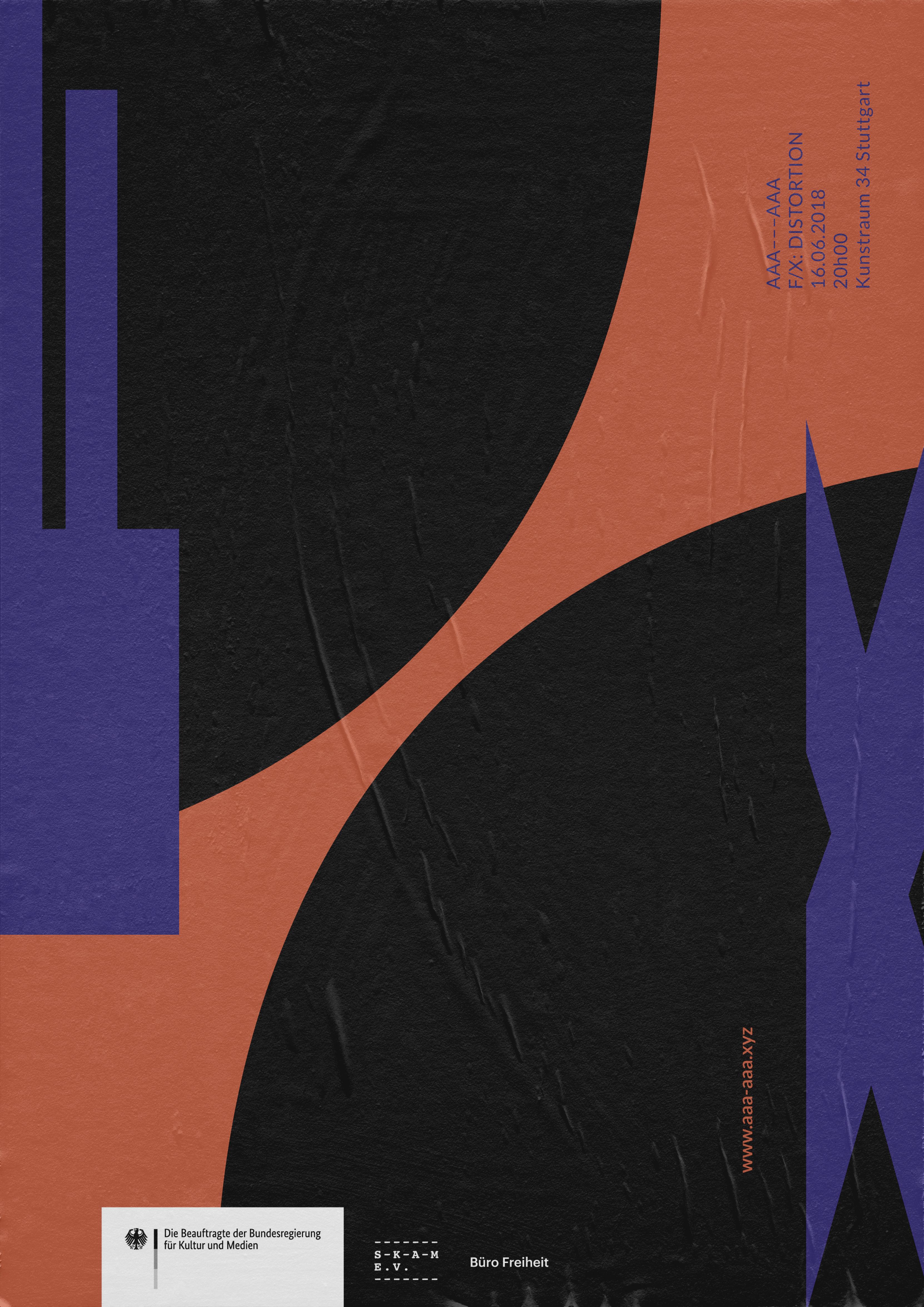 Buero_Freiheit_AAA---AAA_Poster_Kampagne_FX_Reihe_Distorsion4 FX Distorsion Poster
