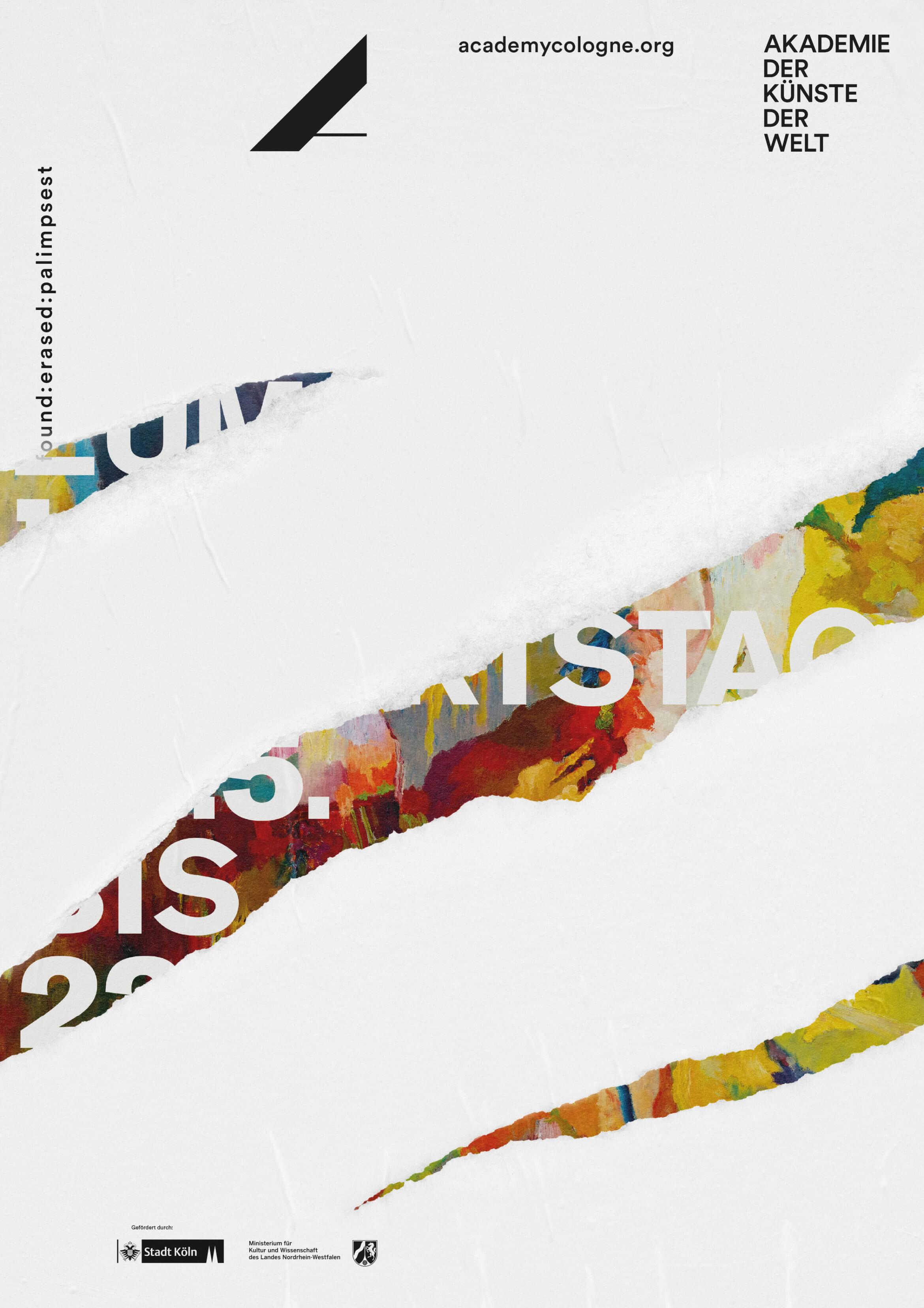 Buero_Freiheit_Akademie_der_Kuenste_der_Welt_Kampagne_Poster_found_erased_palimpset_Museum_Ludwig_2 Akademie der Künste der Welt / Köln