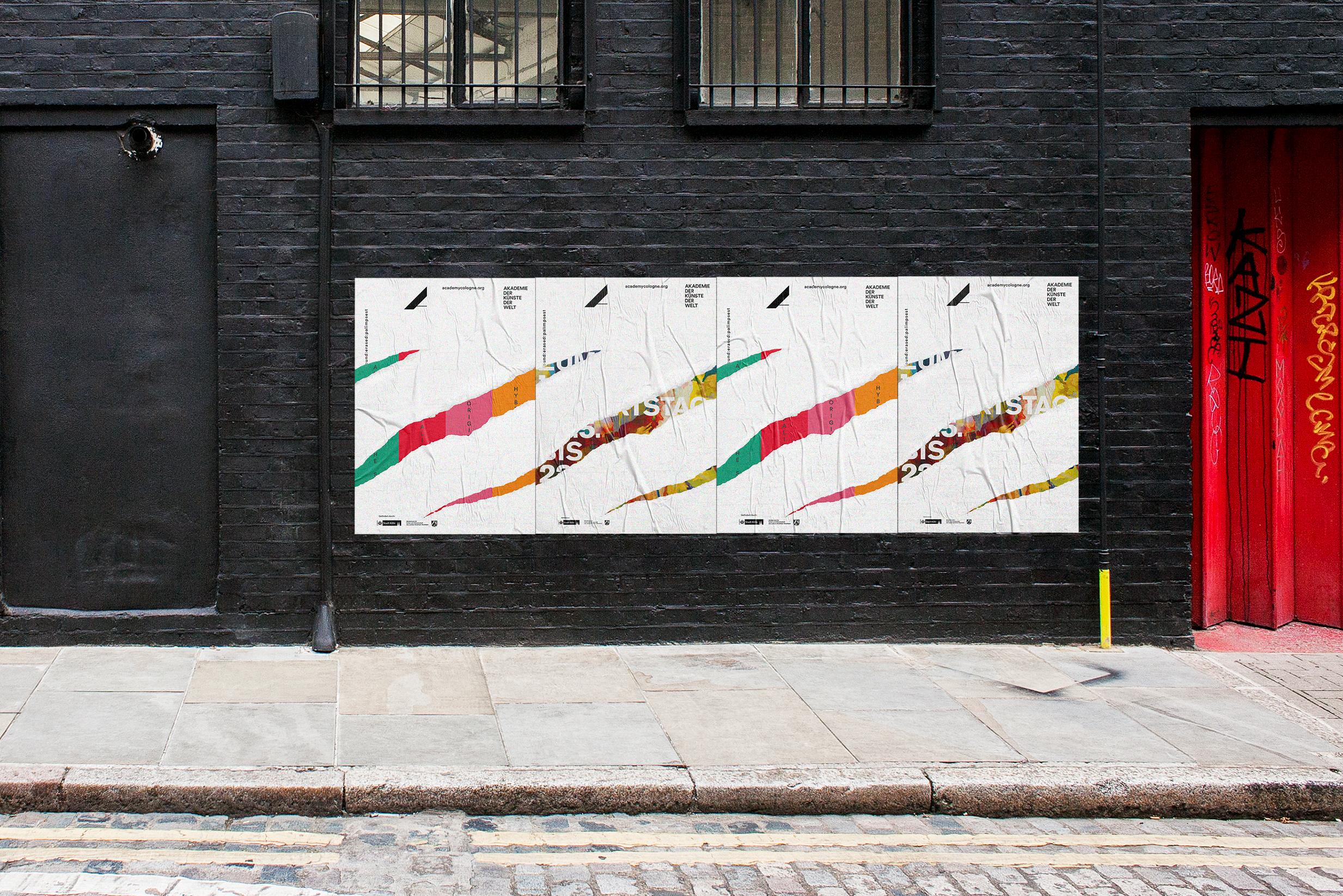Buero_Freiheit_Akademie_der_Kuenste_der_Welt_Kampagne_Poster_found_erased_palimpset_Plakate Akademie der Künste der Welt / Köln