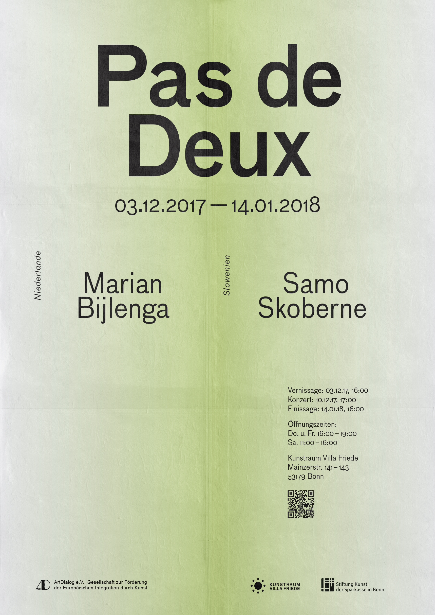 Verlauf | Grün | Linearantiqua | Posterartwork | Exhibition