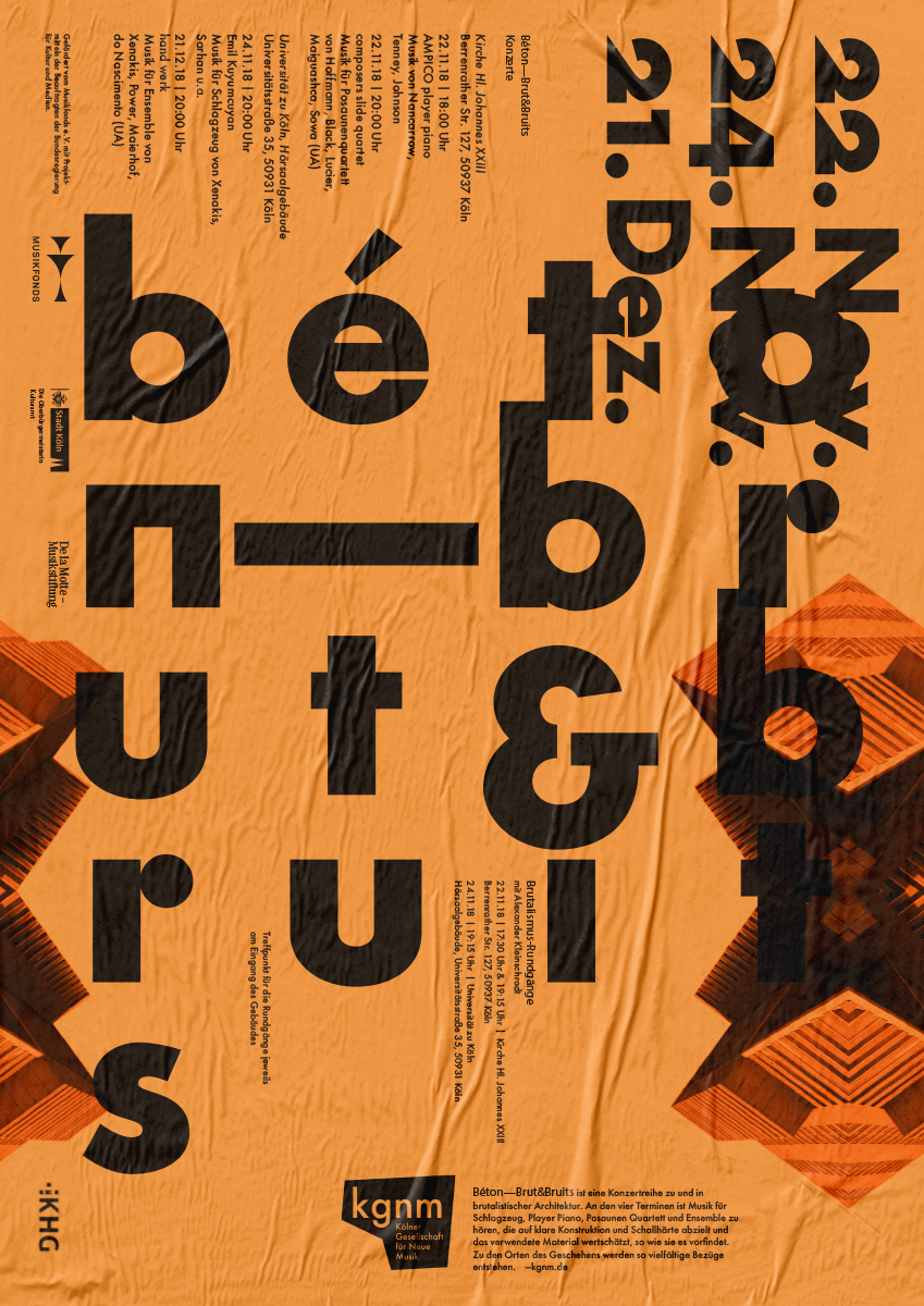 Daniel Angermann – kgnm Posterdesign Bèton – brut & bruits 1