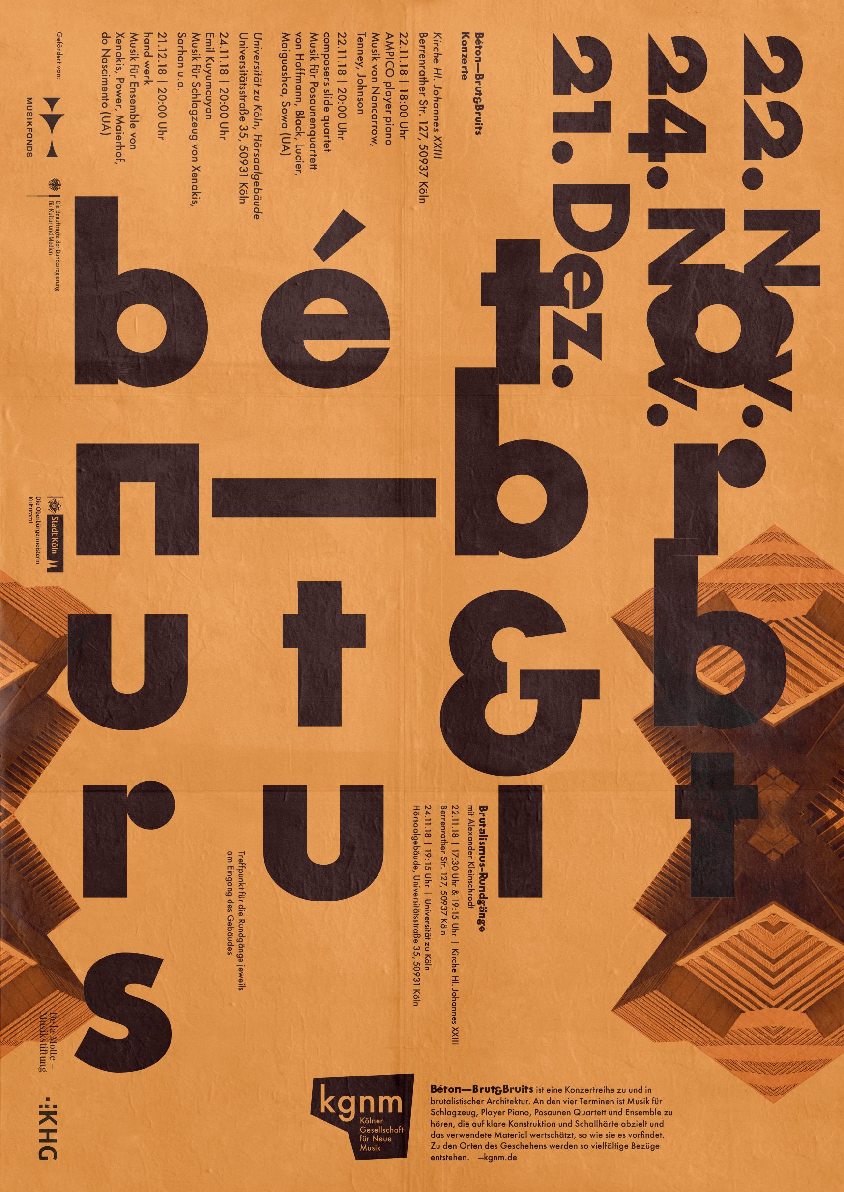 Plakat | Neue Musik |Design | Typografie | Futura