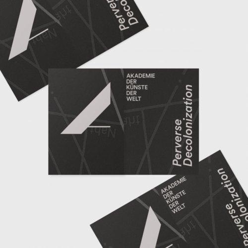 Daniel Angermann – Akademie der Künste der Welt/ Köln – Perverse Decolonization Flyer / Poster 2