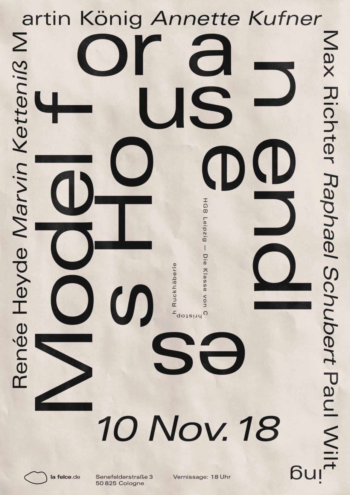 Daniel Angermann - Model for an endless house HGB Leipzig – Posterdesign