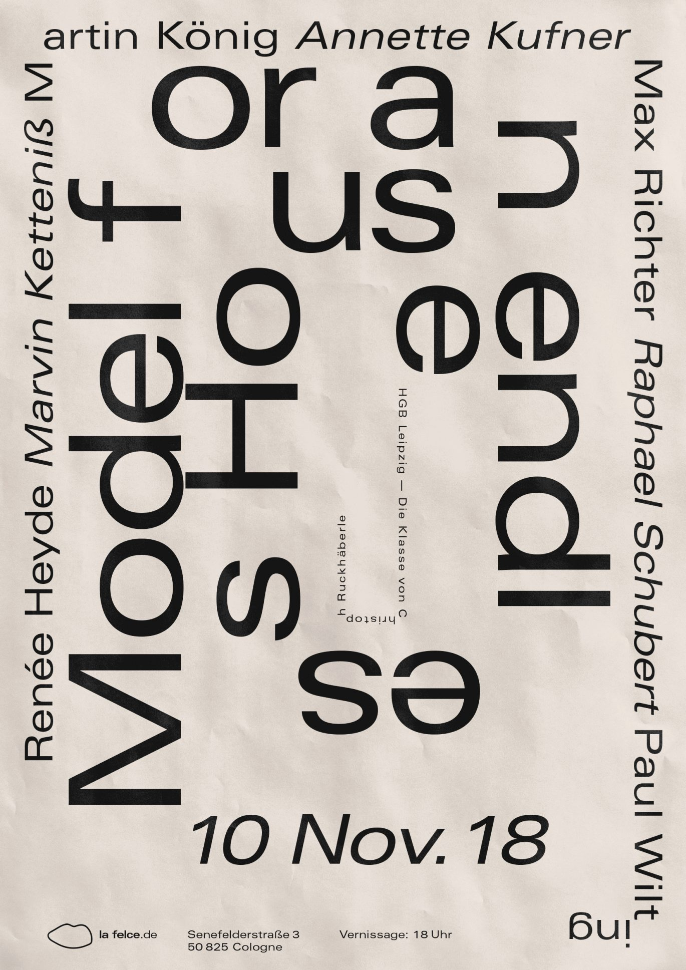 Daniel Angermann | Model for an endless house | HGB Leipzig | Posterdesign