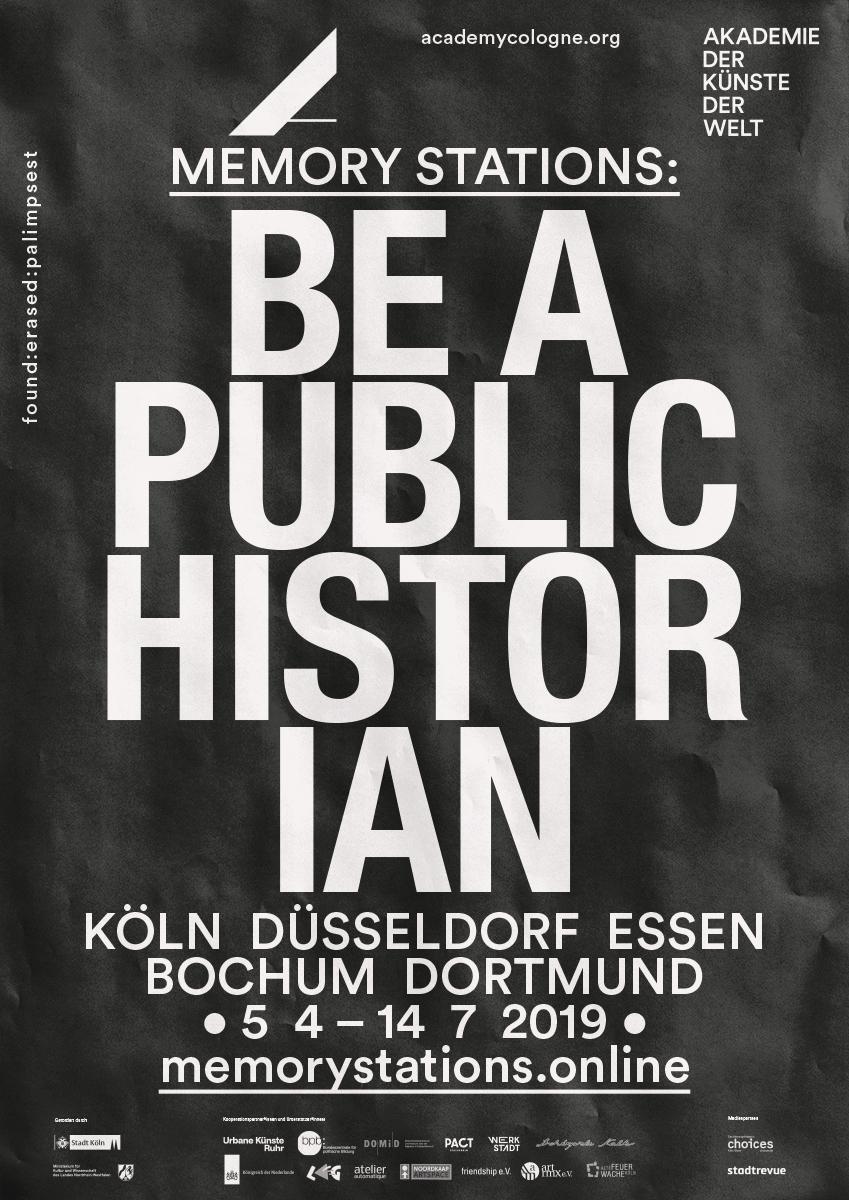 Akademie_der_Kuenste_der_Welt_Buero_Freiheit_Poster_Design_Kampagne_Be_a_public_hostorian0 Be a public historian