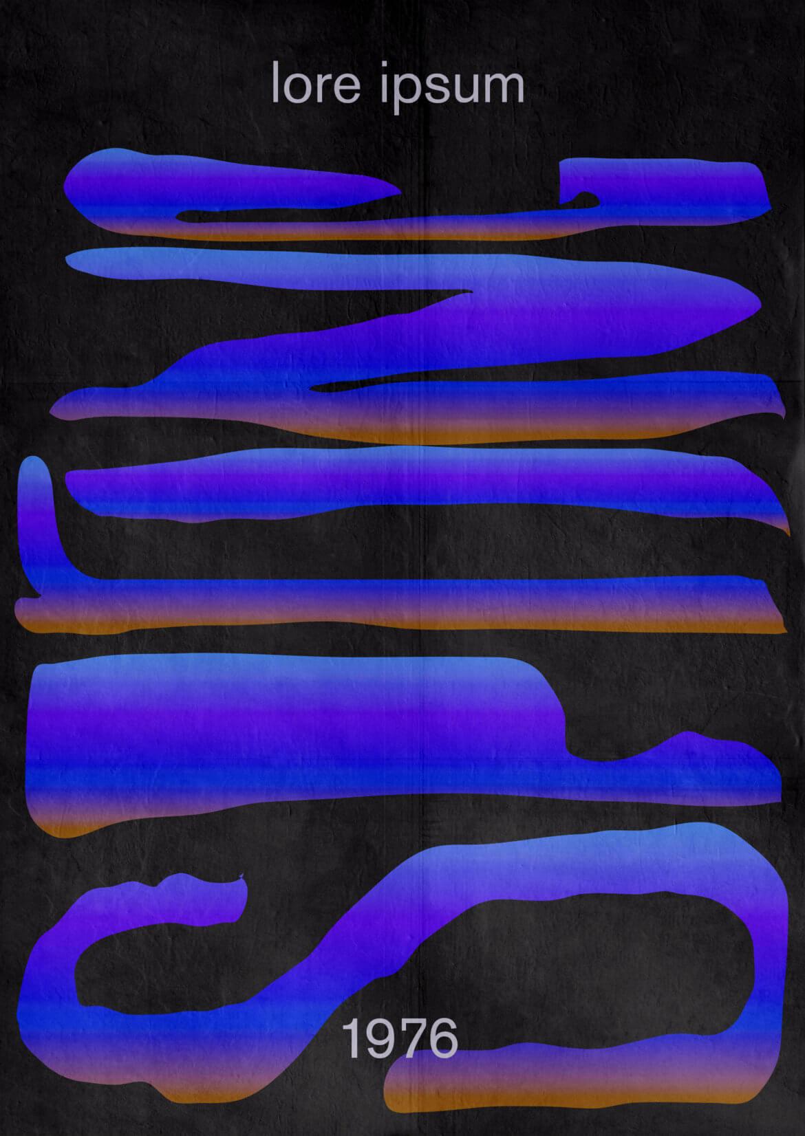 Type | Gradient | Verlauf | Plakat | Colorful