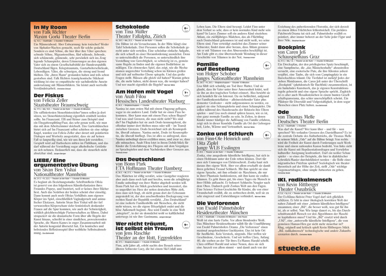Design | Programm | Mülheimer Theatertage | Stücke