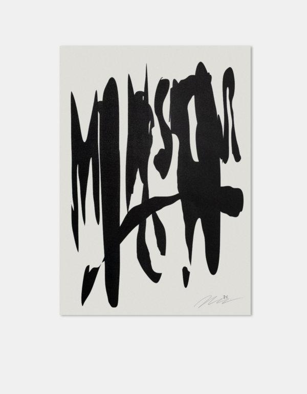 Risografie |Angermann | Schrift |Abstract