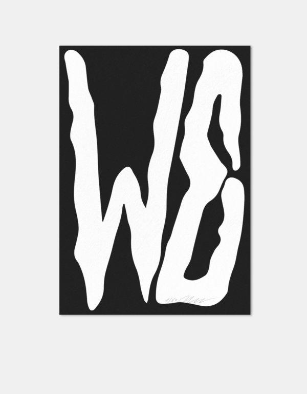 Plakat |Schrift | WE | Buchstaben | Edition