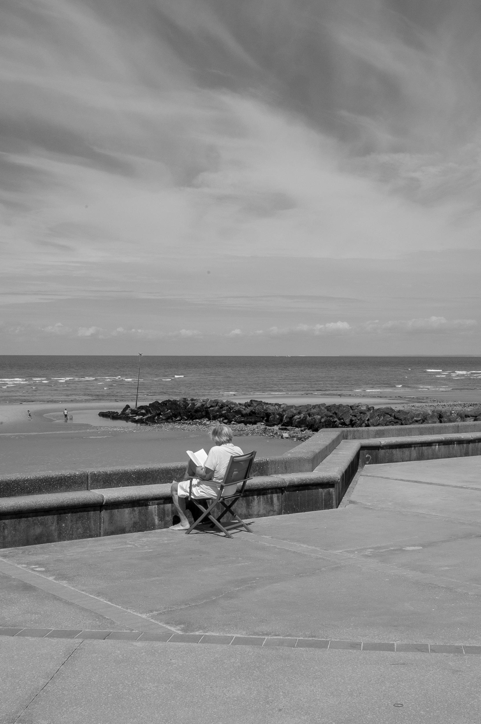 Woman | Reading | Sea