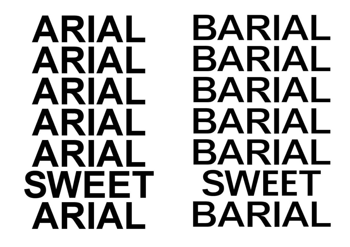 Typeface | Barial | Arial | Alternate