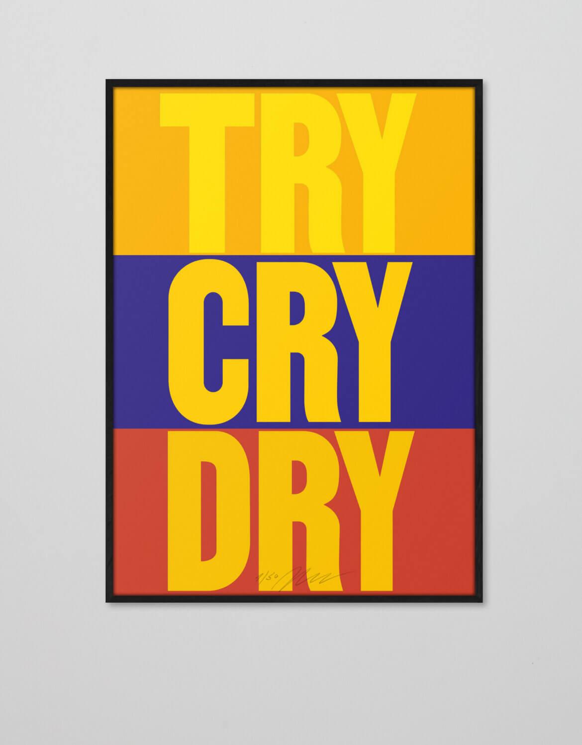 Plakat | Poster | Try Dry Cry | Daniel Angermann