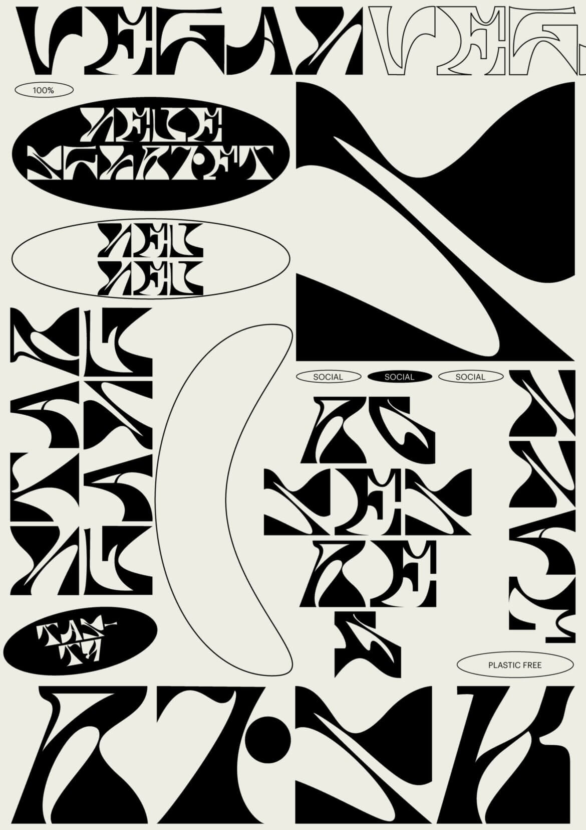 Schrift   Specimen   Plakat   Buchstaben   Abstract