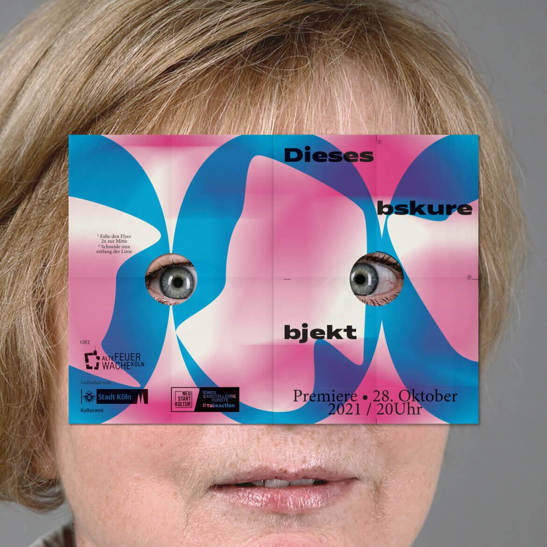 Frau | Grafik | Objekt | Flyer | Bunt